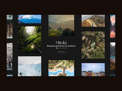 Travel website - Landing figma protopie clean web design minimalism webdesign homepage ui animation travel agency travel