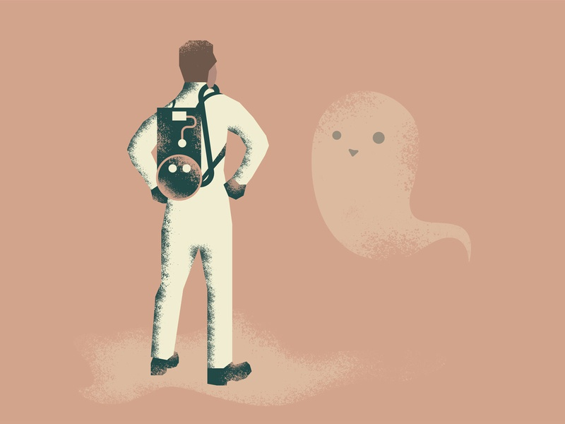 day 30/31 vectober - catch halloween ghostbusters ghost illustration trap vectober inktober