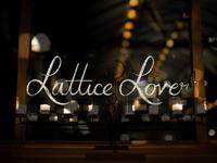 Lattice Lover custom logotype