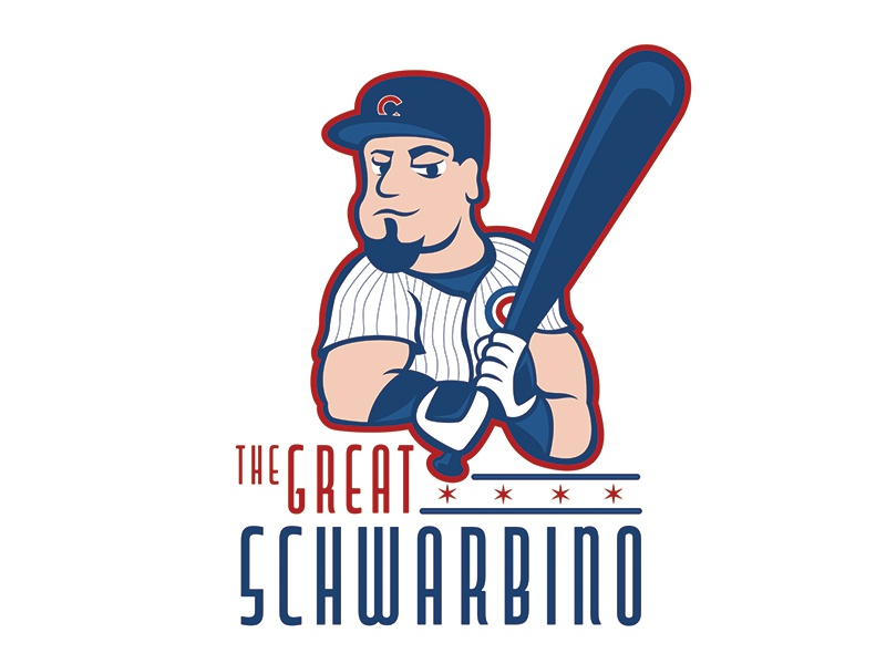 The Great Schwarbino north side sports design schwarbino schwarbs kyle schwarber kyle cubbies home run baseball chicago cubs cubs chicago