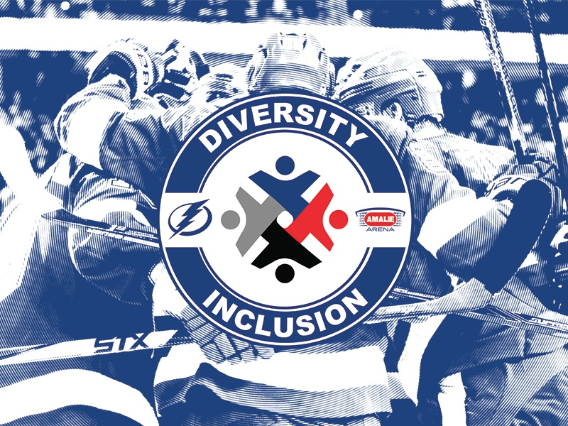 Diversity and Inclusion nhl logo branding lightning tampa bay tampa