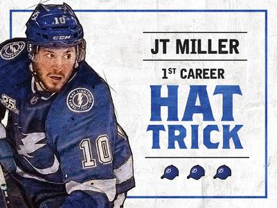 JT Miller Hat Trick