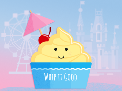 'Whip It Good' Pineapple Dole Whip Illustration