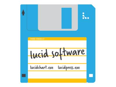 Lucid Software Floppy Sticker