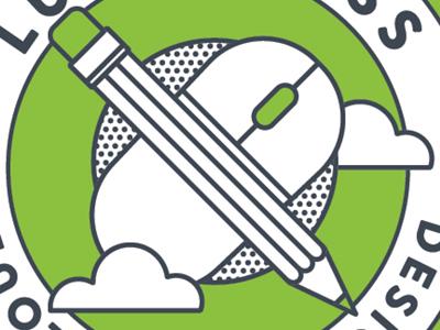 How Design Sticker seal crest mouse cloud pencil lucidpress flat illustrator design sticker