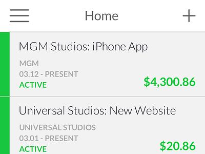 Business iPhone App ux ui iphone money business