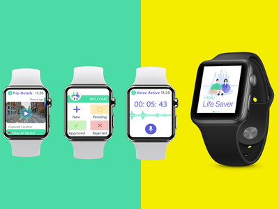 Iwatch IOS VUI Design -  Hello Life Saver Mobile App saudi arabia designer saudi arabia designer dubai designer user interface design uiux dribbble user experience design interaction ui ux