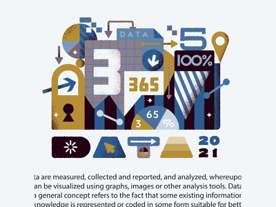 Data Chunk 2021 texture assemblage vector numbers illustration