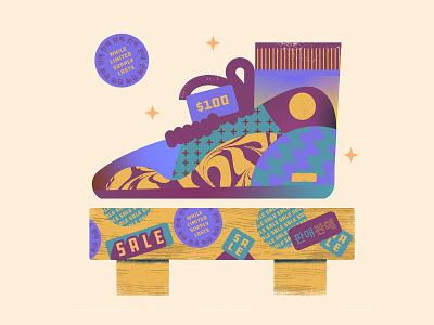 Shoe Sale | 팔다 stickers texture shoe design vector illustration
