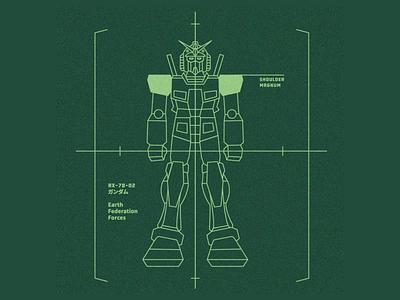 RX-78-2 animation vector illustration gundam