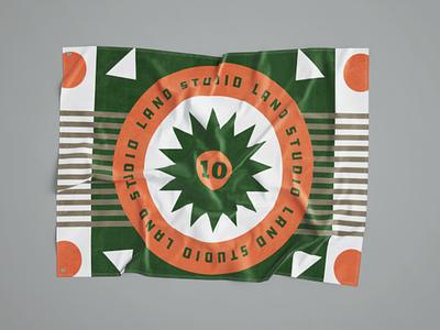 Land Studio 10 year Flag shapes landsudio flag