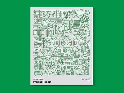 invenergy 2020 Impact Report branding graphic design lineart vector illustration annualreport