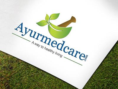 Logo leaf health forest herbal medicine ayurveda