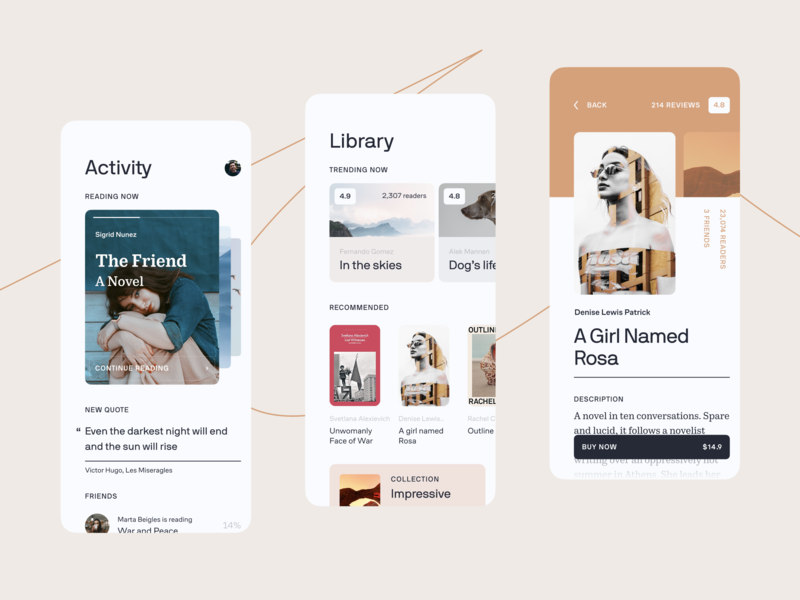 Bookstore service 🤓 ux clean ui ios mobile interface app book reading app book reading service book reading app store books bookstore