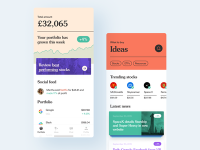 TradeNow — easy way to invest money banking app mobile uiux mobile ui app design app mobile typography mobile app design ios13 ios app banking buy stocks etf stocks investor investment invest fintech investments