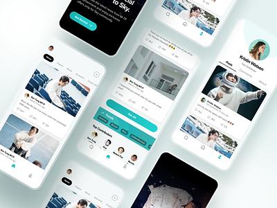 Skysocial App Concept figma design ui uiux social app