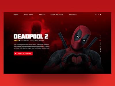 Movie page - Deadpool never die