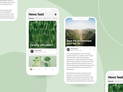 Blog article environment mobile app design mobile app app ux uiux ui blog