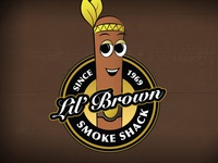Lil Brown Smoke Shack Logo
