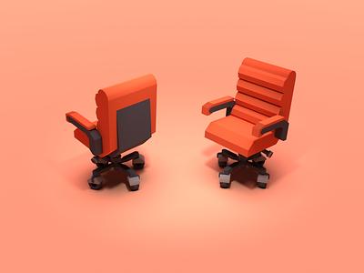 Office Chair shot office chair office chair 3d rendering 3d render blender3d blender low poly lowpoly 3d illustration 3d artist 3d art 3d