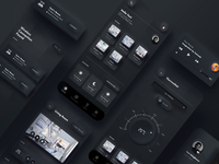 Dark Neumorphic UI Kit template uikits uikit dark theme dark app dark ui neumorphism neumorphic animation adobexd dark illustration vector interaction minimal sketchapp app ux ui design