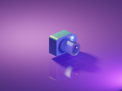 Day #2 (Low Poly Camera) camera lowpolyart low-poly lowpoly blendercycles blender3dart blender3d 3d blender design