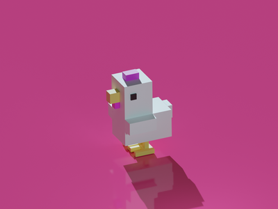 Day #3 (Low Poly Chicken) lighting blendercycles blender3dart lowpoly chicken blender 3d artist design