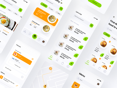 Grubr Food Card UI Kit food delivery food aftereffects presentation cards components figma branding logo illustration interaction minimal sketchapp app ui ux design