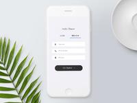Smartcrib login mockup