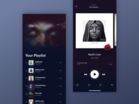 Dark Themed Music Player