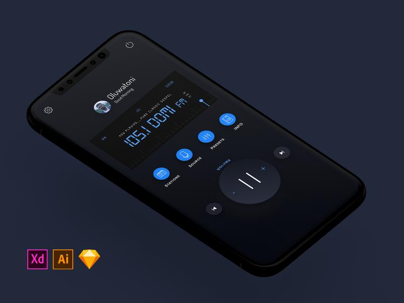 (DARK) Radio Concept Application Design + FREEBIES