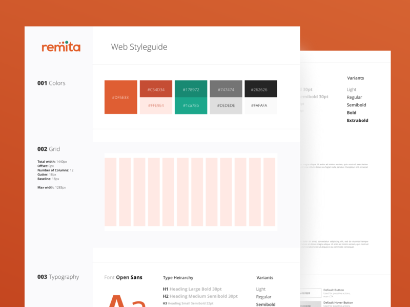Remita Web Styleguide