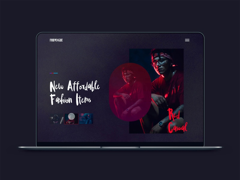 Fabvogue Clothing Site Concept