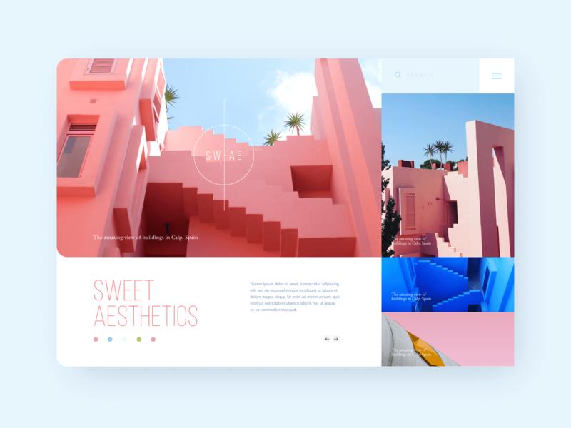 SW - AE Design Concept Exploration typography adobexd minimal app creativetagx ux ui design