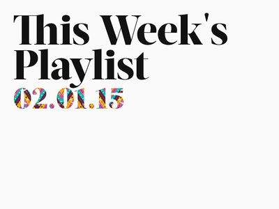 Classy this weeks playlist music type pattern hipster serif