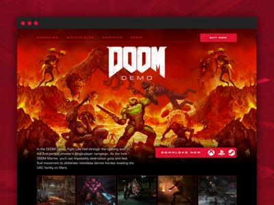 DOOM - Single-Player Demo website web design web weapons marine demo interactive hell doom design demons bloody