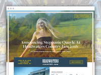 Headwaters Country Jam - Site Design