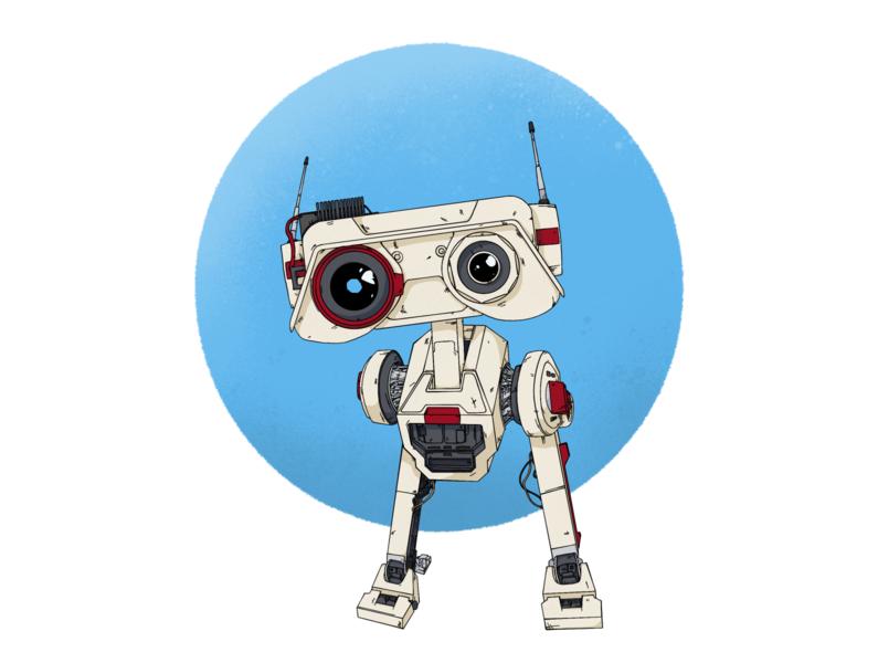 The best little scavenger droid in the galaxy. droid jedi ipad pro art ipad pro procreate bd1 fallen order star wars comic art