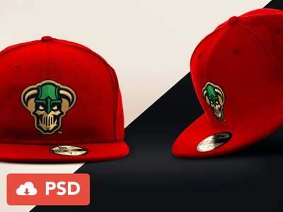 New Era Cap Free Mockup render psd download mockup baseball cap free