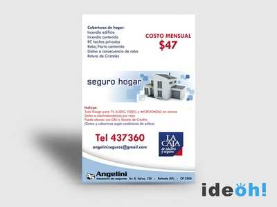 Flyer / Insurances emiliano negrillo ideoh advertisement business cards flyers graphic design