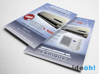 Flyer / Air Conditioning emiliano negrillo ideoh advertisement business cards flyers graphic design
