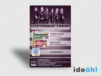 Flyer / Electronic emiliano negrillo ideoh advertisement business cards flyers graphic design
