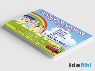 Flyer / Bouncy Castles emiliano negrillo ideoh advertisement business cards flyers graphic design