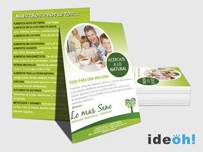 Flyer / Dietetic emiliano negrillo ideoh advertisement business cards flyers graphic design