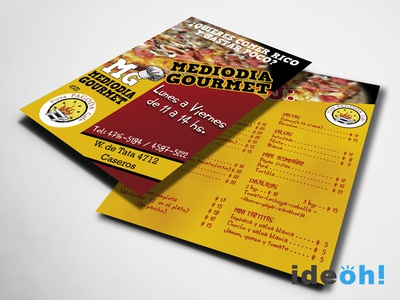 Flyer / Pizza emiliano negrillo ideoh advertisement flyers graphic design