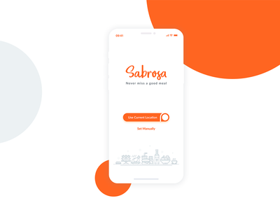 Sabrosa- Food Delivery App for iPhone X