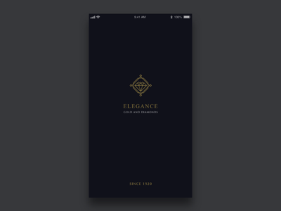 Adobe XD Playoff: ELEGANCE- Gold and Diamonds