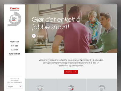 Canon Business Center redesign website web ui interface design clean