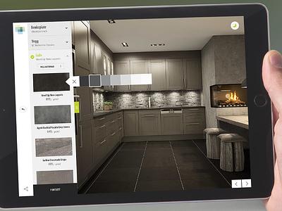 Product designer web ui interface design clean floor kitchen product designer