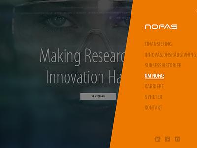 Nofas homepage design website clean ui homepage web
